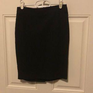LOFT A-line black skirt OOP